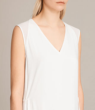 Womens Alia Sleeveless Dress (Chalk White) - product_image_alt_text_2