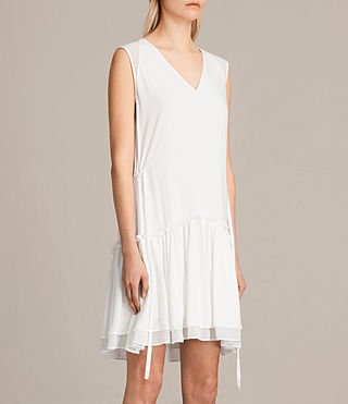 Womens Alia Sleeveless Dress (Chalk White) - product_image_alt_text_4