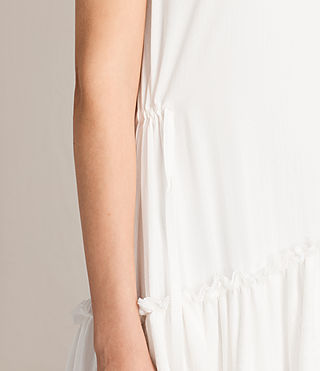 Womens Alia Sleeveless Dress (Chalk White) - product_image_alt_text_5