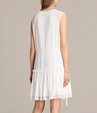 Womens Alia Sleeveless Dress (Chalk White) - product_image_alt_text_6