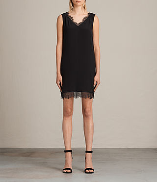 Womens Camia Lace Dress (Black) - product_image_alt_text_1