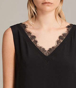Womens Camia Lace Dress (Black) - product_image_alt_text_2