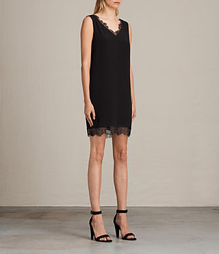 Womens Camia Lace Dress (Black) - product_image_alt_text_3