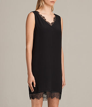 Women's Camia Lace Dress (Black) - product_image_alt_text_5
