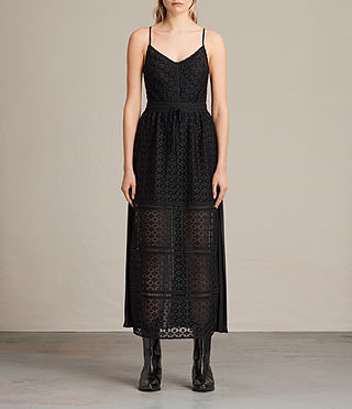 Womens Alsen Lace Dress (Black) - product_image_alt_text_1
