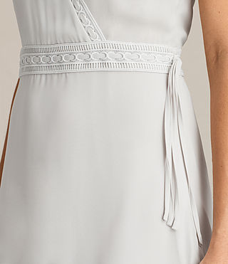 Womens Keena Pleat Dress (SOAP GREY) - product_image_alt_text_5