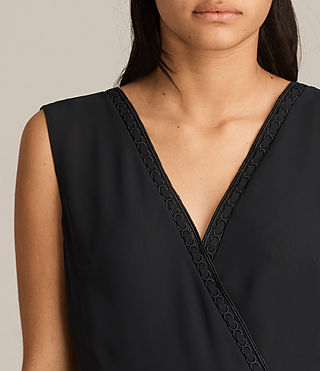 Womens Keena Pleat Dress (Black) - product_image_alt_text_2