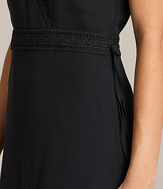 Womens Keena Pleat Dress (Black) - product_image_alt_text_4