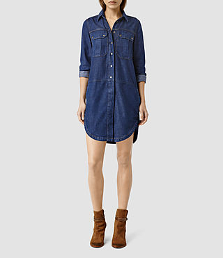 Womens Louise Military Dres (Indigo Blue)