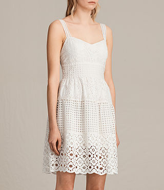 Femmes Robe Janey Tier (Chalk White) - product_image_alt_text_3