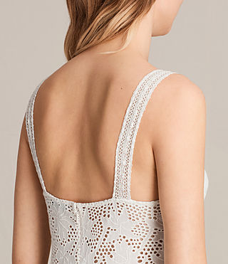 Femmes Robe Janey Tier (Chalk White) - product_image_alt_text_7
