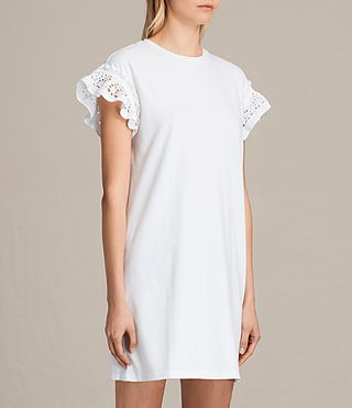 Women's Trixi Ruffle Dress (Chalk White) - product_image_alt_text_3