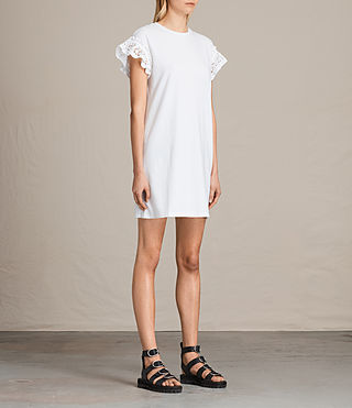 Women's Trixi Ruffle Dress (Chalk White) - product_image_alt_text_5