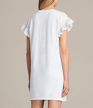 Womens Trixi Ruffle Dress (Chalk White) - product_image_alt_text_6