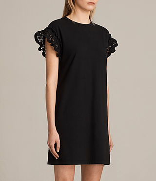 Femmes Trixi Ruffle Dress (Black) - product_image_alt_text_3