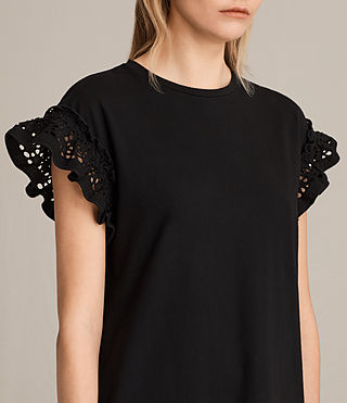Womens Trixi Ruffle Dress (Black) - product_image_alt_text_4