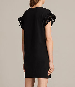Womens Trixi Ruffle Dress (Black) - product_image_alt_text_6