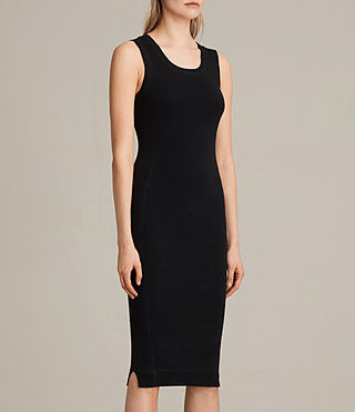 Womens Joni Dress (BLACK/INK BLUE) - product_image_alt_text_5