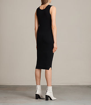 Womens Joni Dress (BLACK/INK BLUE) - product_image_alt_text_7