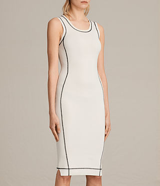 Womens Joni Dress (ANTIQUE WHITE/INK) - product_image_alt_text_3
