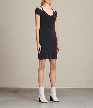 Women's Boast Dress (Washed Black) - product_image_alt_text_3