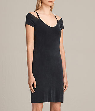 Women's Boast Dress (Washed Black) - product_image_alt_text_4