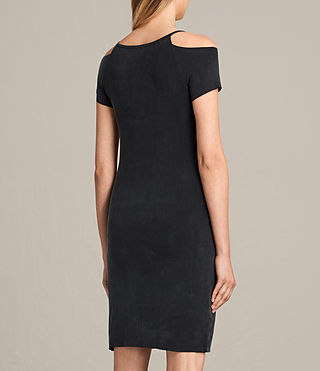 Womens 보스트 드레스 (Washed Black) - product_image_alt_text_6