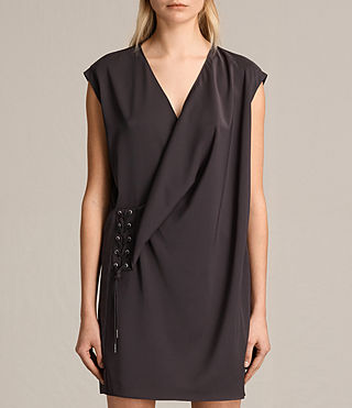 Femmes Robe Aures (ANTHRACITE GREY) - product_image_alt_text_5