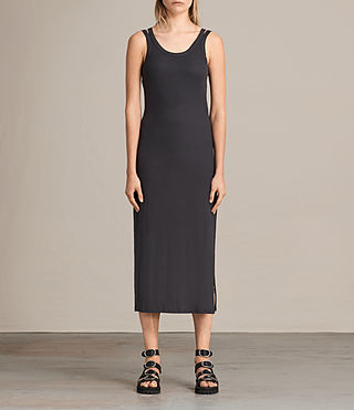 Femmes Isabel Long Dress (Washed Black) -