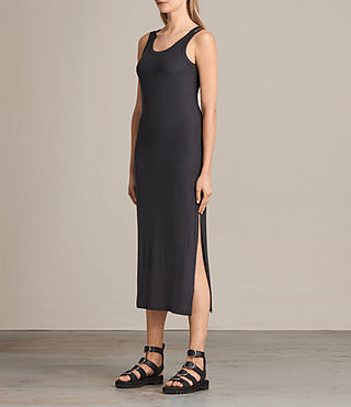 Femmes Isabel Long Dress (Washed Black) - product_image_alt_text_3