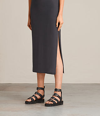 Femmes Isabel Long Dress (Washed Black) - product_image_alt_text_4