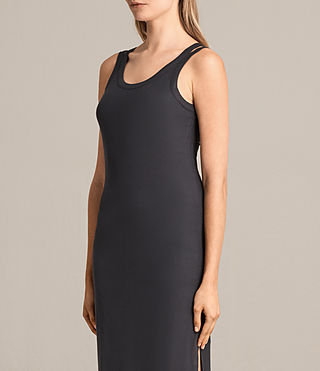 Femmes Isabel Long Dress (Washed Black) - product_image_alt_text_5