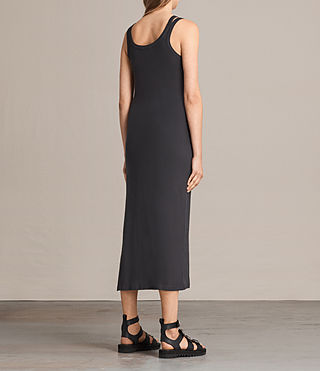 Femmes Isabel Long Dress (Washed Black) - product_image_alt_text_7