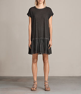 Women's Jody Jersey Dress (Washed Black) - Image 1