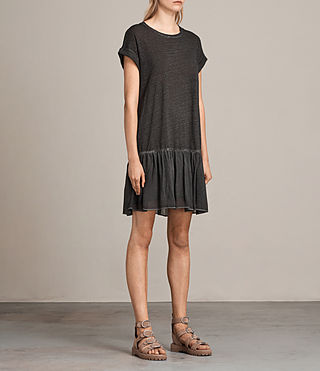 Women's Jody Jersey Dress (Washed Black) - Image 3