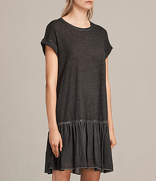 Women's Jody Jersey Dress (Washed Black) - Image 4