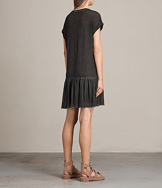 Women's Jody Jersey Dress (Washed Black) - Image 7