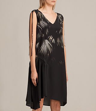 Femmes Rye Neluwa Silk Dress (Black) - product_image_alt_text_3
