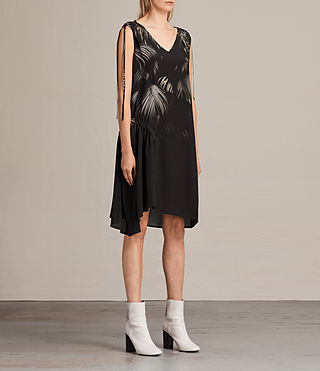 Femmes Rye Neluwa Silk Dress (Black) - product_image_alt_text_5