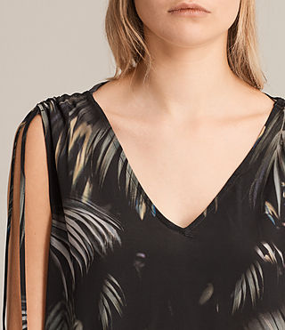 Femmes Rye Neluwa Silk Dress (Black) - product_image_alt_text_6