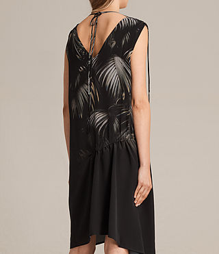 Femmes Rye Neluwa Silk Dress (Black) - product_image_alt_text_7