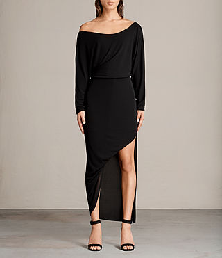 Mujer Evon Dress (Black) - product_image_alt_text_1