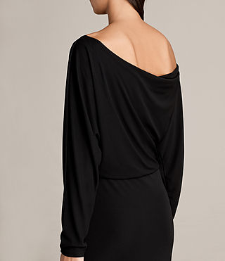Mujer Evon Dress (Black) - product_image_alt_text_2
