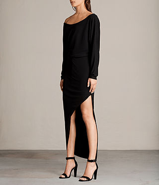 Mujer Evon Dress (Black) - product_image_alt_text_3