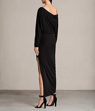 Mujer Evon Dress (Black) - product_image_alt_text_6