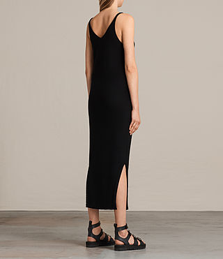Women's Blyth Long Dress (Black) - Image 5