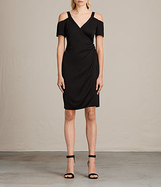 Women's Cadia Dress (Black) - product_image_alt_text_1