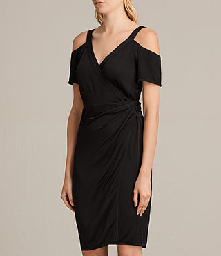 Women's Cadia Dress (Black) - product_image_alt_text_4