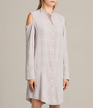 Womens Floria Check Dress (Pearl) - product_image_alt_text_5
