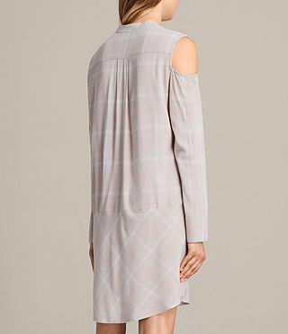Womens Floria Check Dress (Pearl) - product_image_alt_text_8